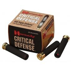 """Hornady 86238 Critical Def 410 Triple Def 410ga 2.5"""" 35/41Cal Shot 20Bx/10Cs"""