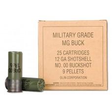 "Winchester Ammo Q1544VP Military Grade 12 Gauge 2.75"" Buckshot 9 Pellets 00 Buck 25 Bx/ 10 Cs"